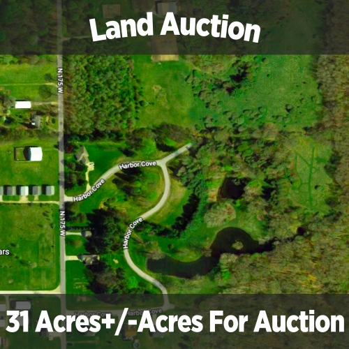 31+/- acres of land with building lots, woods, & ponds.