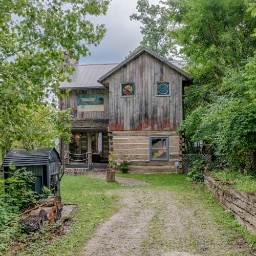 Historic log home w/ walkout basement on 66 ft lakefront lot - Lake Papakeechie