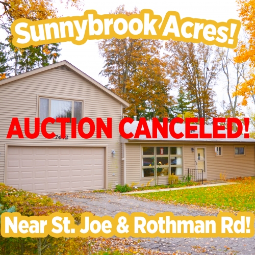 AUCTION CANCELED!