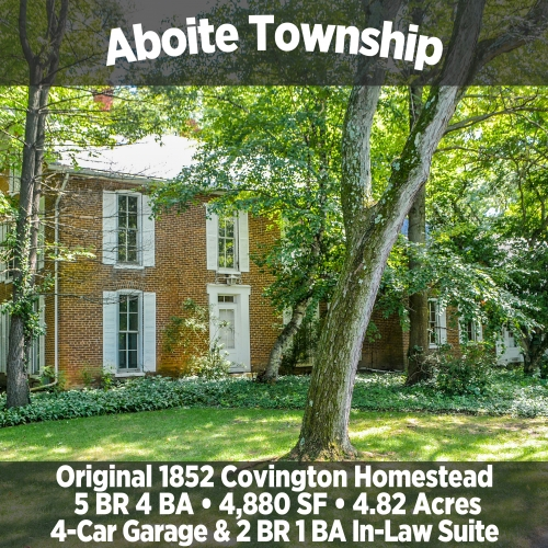 Beautiful 5 Bedroom 4 Bathroom Original 1852 Covington Homestead in Aboite Township