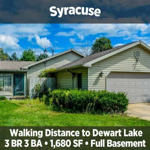 Charming 3 Bedroom 3 Bathroom Home in Walking Distance to Dewart Lake in Syracuse, IN