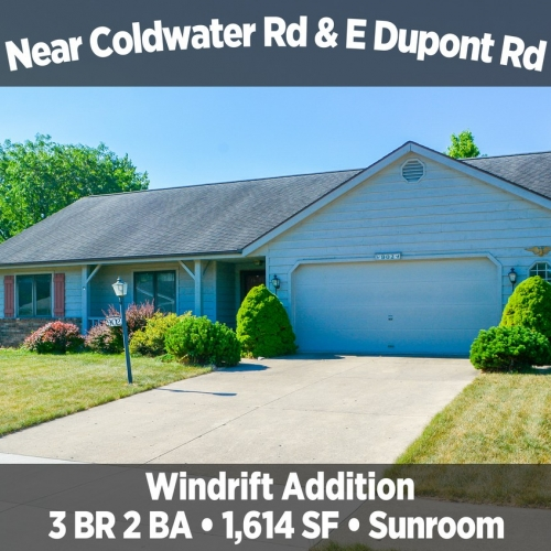 Beautiful 3 Bedroom 2 Bath Home Near Coldwater Rd & E Dupont Rd