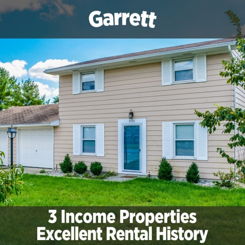 3 Fantastic Income Properties in Garrett, IN