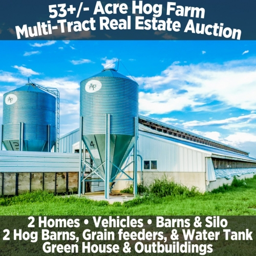 53+/- Acre Hog Farm Multi-Tract Real Estate Auction
