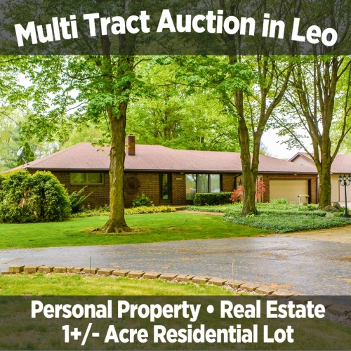 Peaceful 3 bedroom, 2.5 bathroom single family home & 1+/- Residential Lot in Leo