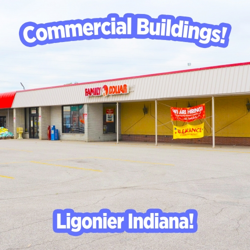 Multiple commercial buildings & land in Noble County