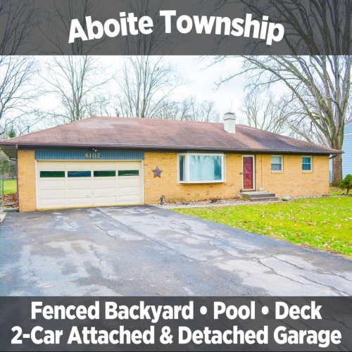3 Bedroom Single Family Home in Aboite Township