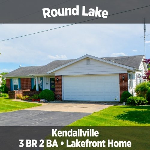 Beautiful 3 bedroom 2 bath home on Round Lake in Kendallville