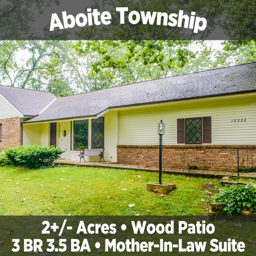 Private 3 Bedroom 3.5 Bathroom in Aboite Township