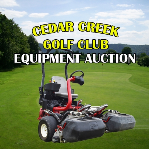 Cedar Creek Golf Course Closing - Opportunity to Own Well-Maintained Equipment & Golf Supplies