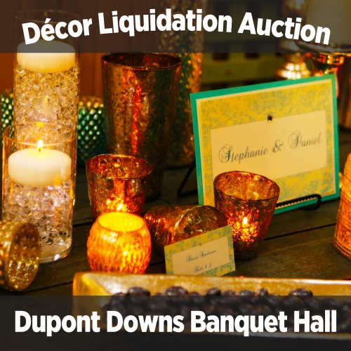 Décor liquidation auction of Dupont Downs banquet hall in Fort Wayne, Indiana