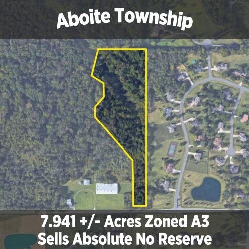 7.941 +/- ACRES ZONED A3 IN ABOITE TOWNSHIP