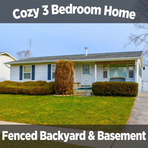 Cozy 3 bedroom single family home with Basement