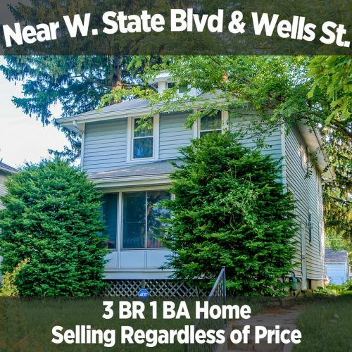 Charming 3 Bedroom 1 Bath Home Near W. State Blvd. & Wells St.