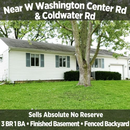 Charming 3 Bedroom 1 Bathroom Income Property Near W Washington Center Rd & Coldwater Rd